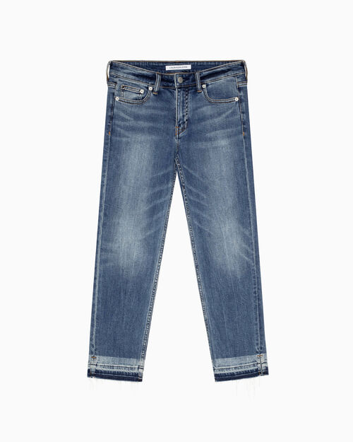 CALVIN KLEIN INFINITE SOFT SLIM STRAIGHT CROPPED JEANS