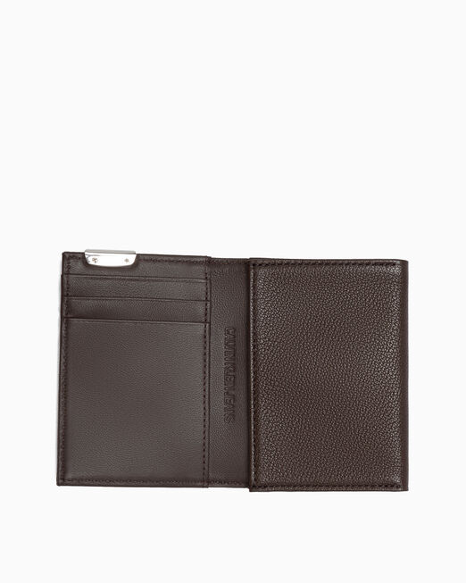 CALVIN KLEIN MICRO PEBBLE FOLD CARD CASE