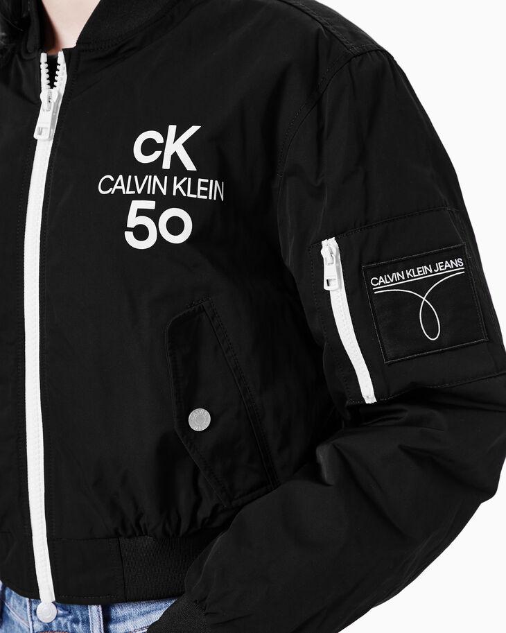 CALVIN KLEIN CK50 LOGO CROPPED BOMBER