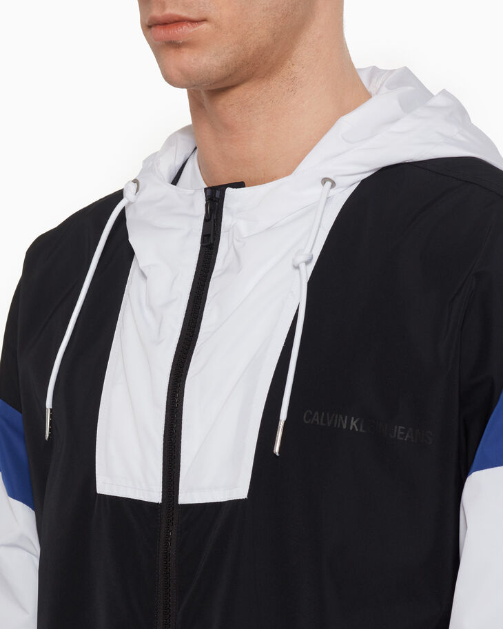 CALVIN KLEIN COLOR BLOCK HOODED JACKET