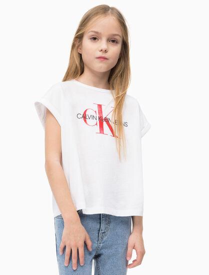CALVIN KLEIN 女孩款 MONOGRAM LOGO 寬版上衣