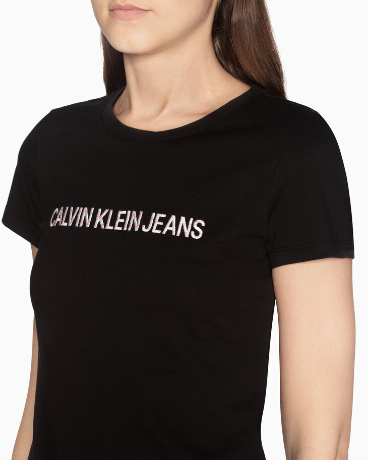 CALVIN KLEIN EMBROIDERED LOGO TEE