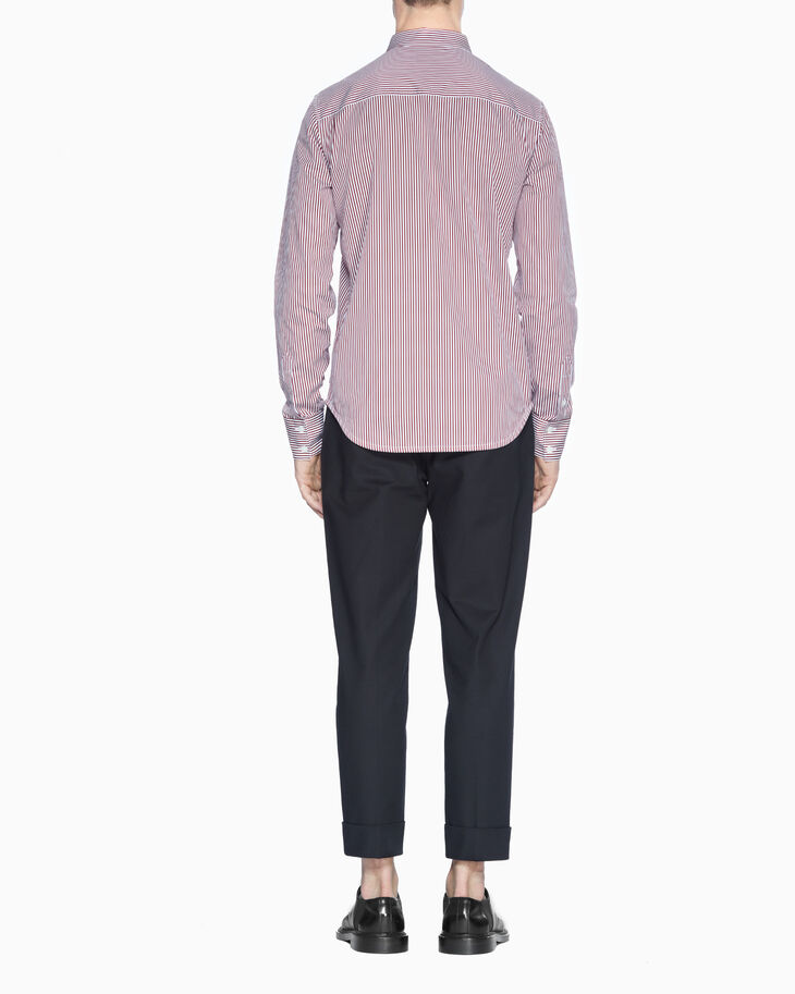 CALVIN KLEIN COTTON SATEEN STRIPE SHIRT