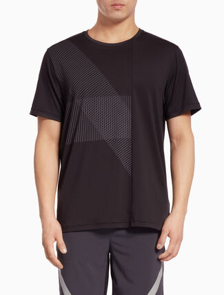 CALVIN KLEIN PLACEMENT STRIPE SHORT-SLEEVE TEE