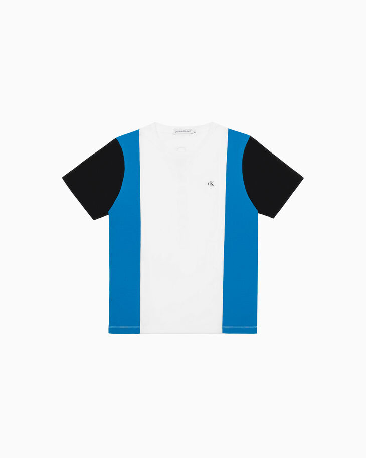 CALVIN KLEIN BOYS COLOR BLOCK TEE