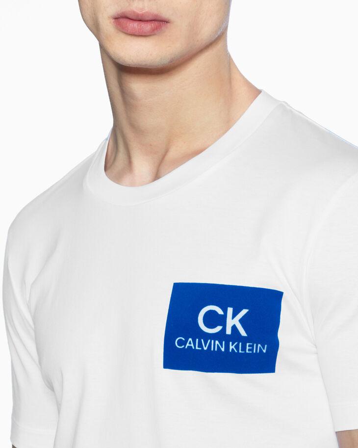 CALVIN KLEIN 플록 로고 티셔츠
