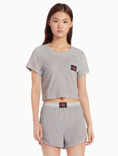 CALVIN KLEIN CROPPED KNIT TOP