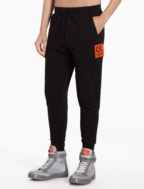 CALVIN KLEIN LOGO APPLIQUE SWEATPANTS