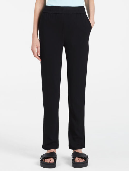 CALVIN KLEIN VISCOSE STRETCH STRAIGHT PANTS