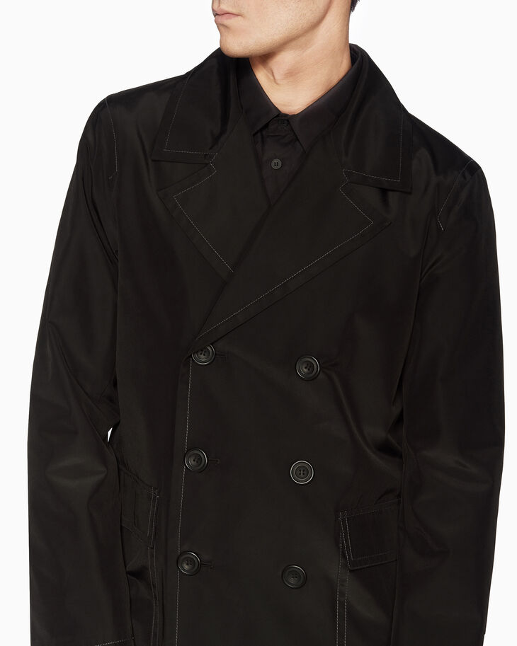 CALVIN KLEIN TECH PANAMA DOUBLE BREASTED COAT
