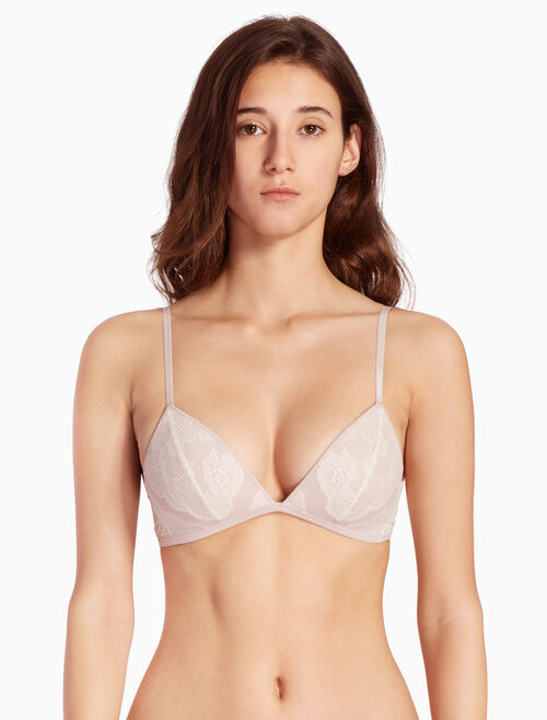 CALVIN KLEIN PRESSED LACE LIGHTLY LINE BRALETTE