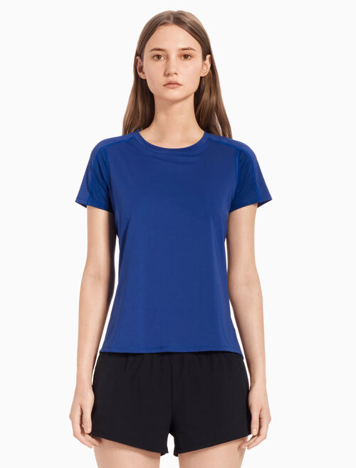 CALVIN KLEIN SHORT-SLEEVE TEE WITH MESH PANELS