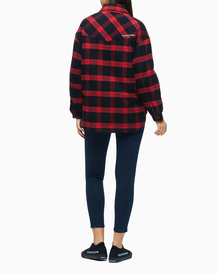 CALVIN KLEIN RELAXED PLAID SHIRT JACKET