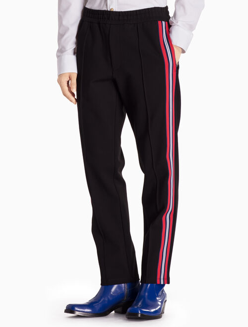 CALVIN KLEIN KNITTED STRIPE PANTS