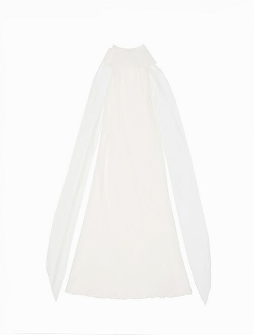CALVIN KLEIN シルククレープスカーフ ロングドレス