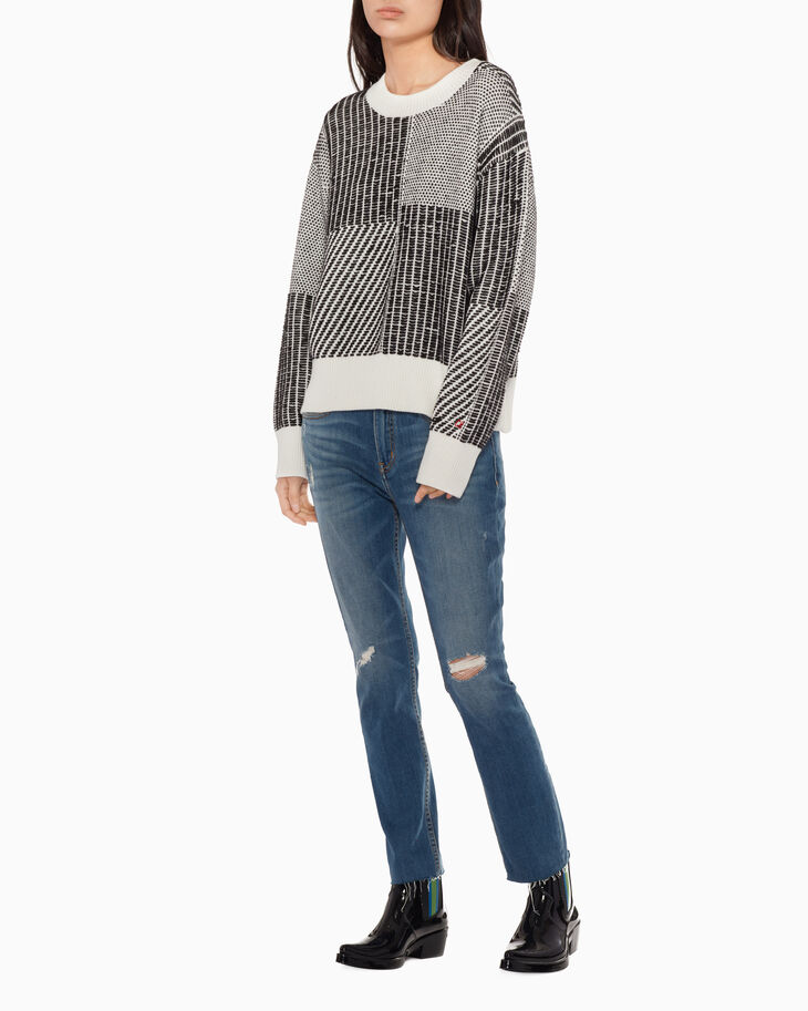 CALVIN KLEIN REVERSE STITCH SWEATER