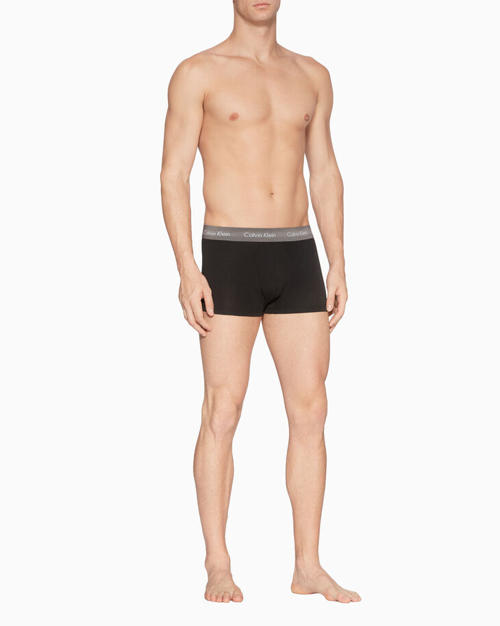 CALVIN KLEIN COTTON STRETCH 3-PACK LOW RISE TRUNK