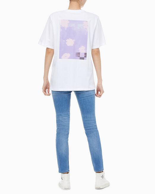 CALVIN KLEIN 여성 보이프렌드 핏 그래픽 반팔 티셔츠