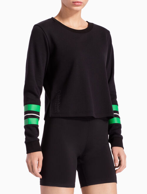 CALVIN KLEIN PULLOVER WITH SLEEVE STRIPES