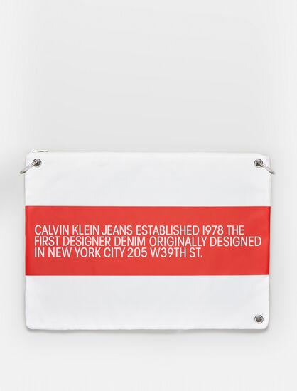 CALVIN KLEIN EST 1978 LOGO NYLON OVERSIZED POUCH