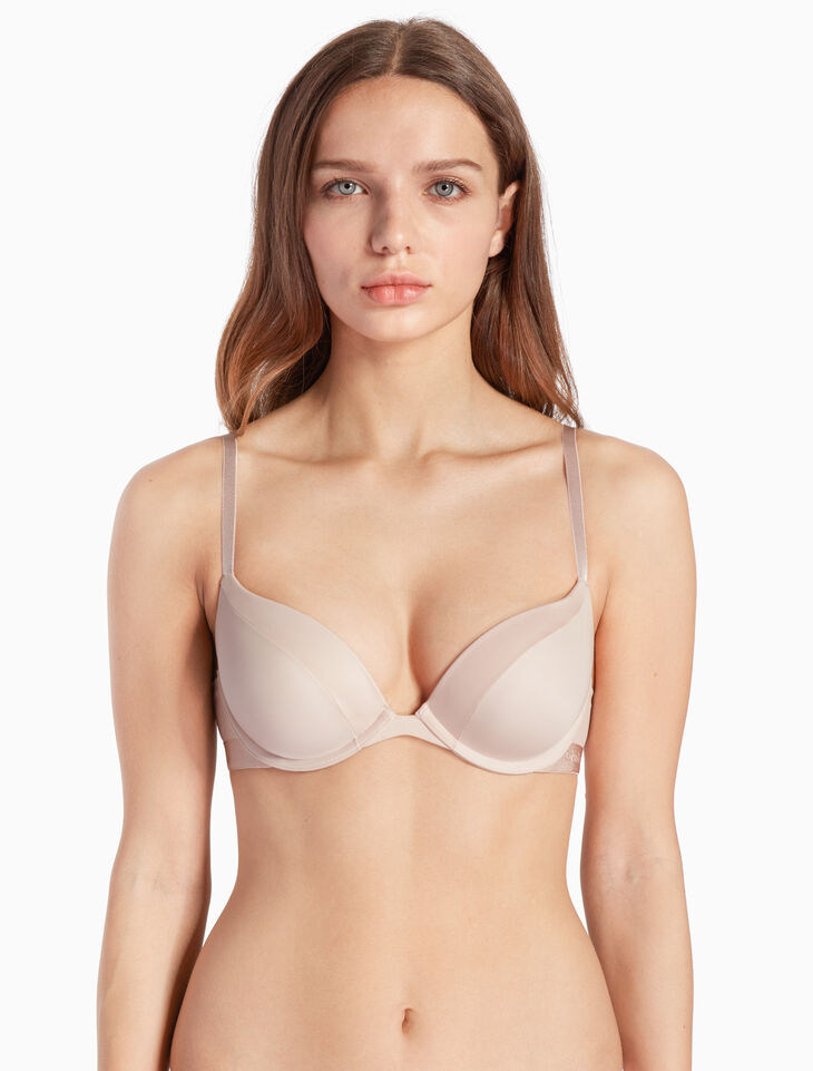 CALVIN KLEIN STRUCTURE MICRO PUSH UP プランジブラ
