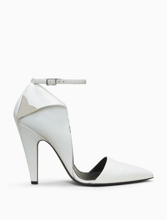 CALVIN KLEIN high heeled deco pump in calf leather