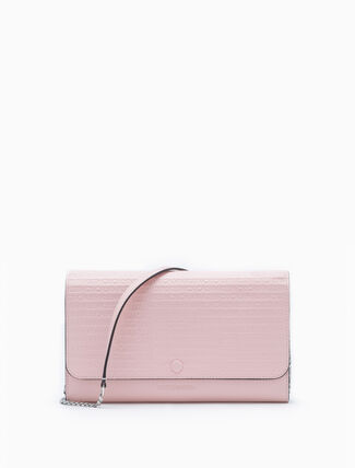 CALVIN KLEIN ALL-OVER LOGO WALLET WITH CHAIN