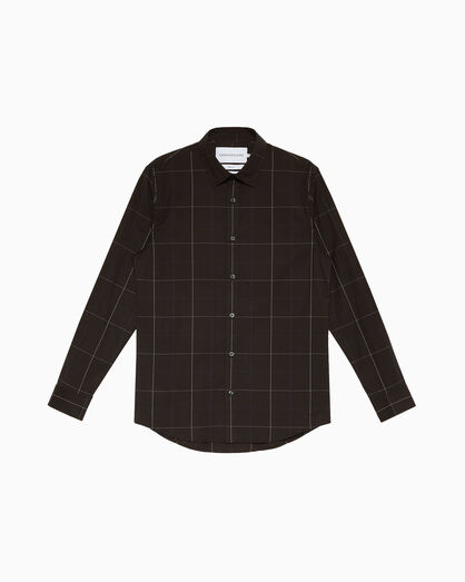 CALVIN KLEIN PLAID COTTON SLIM SHIRT