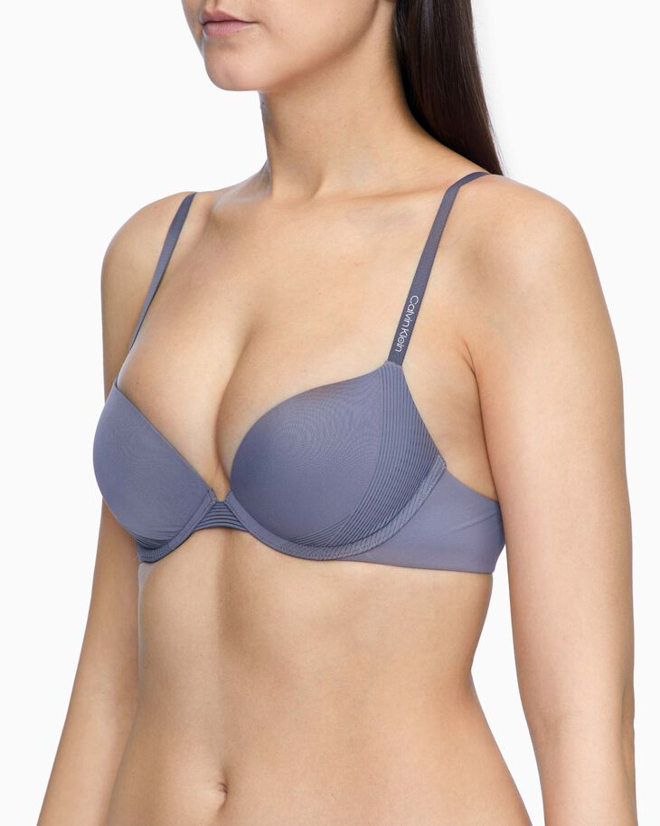 CALVIN KLEIN BREATHABLE PUSH-UP PLUNGE BRA