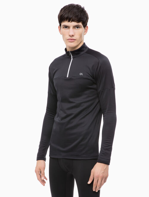 CALVIN KLEIN HALF ZIP TEE WITH LONG SLEEVES