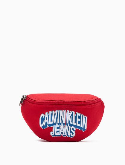 CALVIN KLEIN BOYS LOGO PRINT SLING BAG