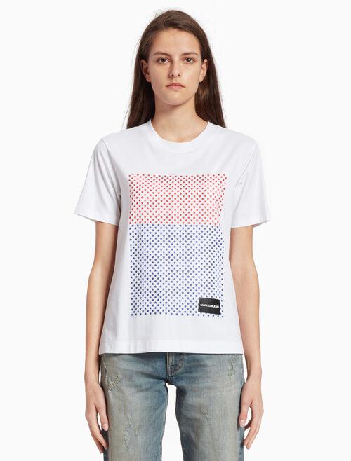 CALVIN KLEIN STAR PRINT 박시 티셔츠