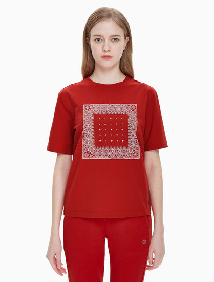 CALVIN KLEIN CNY SPECIAL 반다나 티셔츠