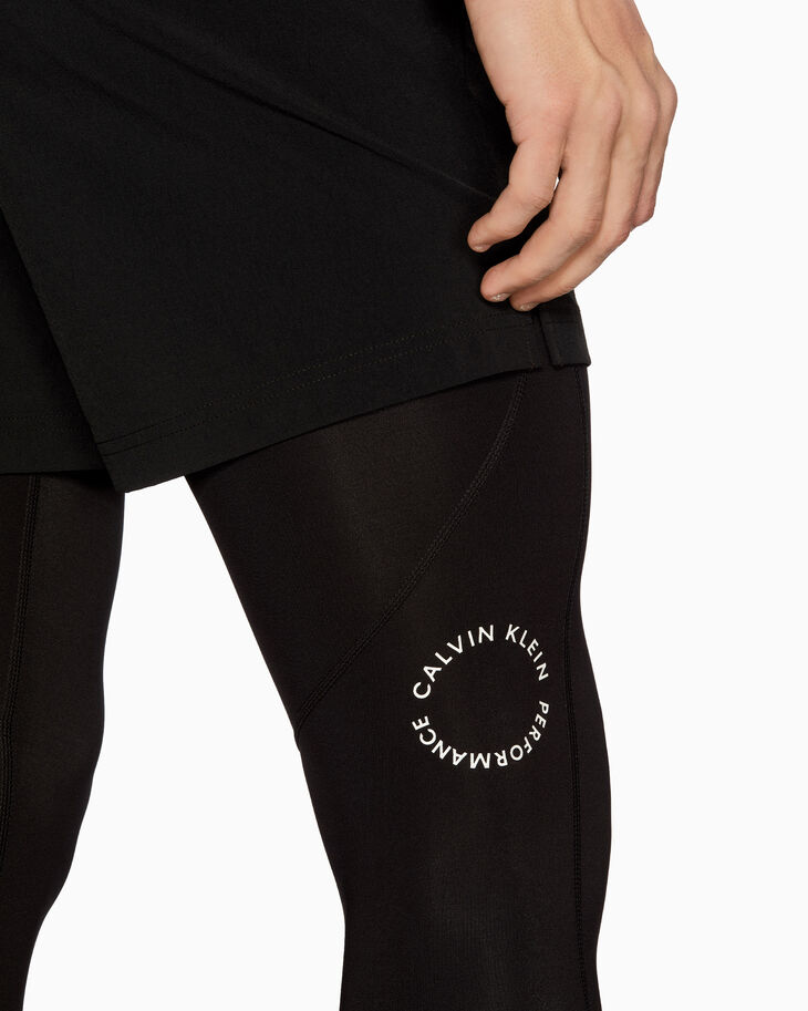 CALVIN KLEIN SPACE LINES FULL-LENGTH TIGHTS