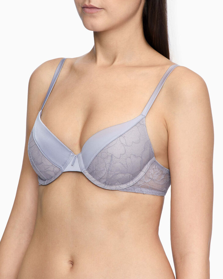 CALVIN KLEIN BLOOMING FLORAL LIGHT LINED PERFECT COVERAGE BRA
