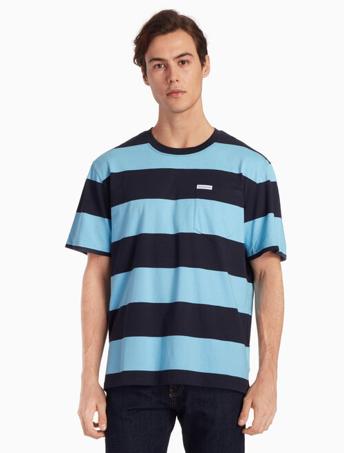 CALVIN KLEIN STRIPED クルーネック T シャツ