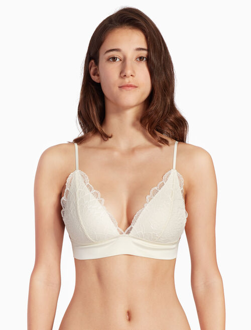 CALVIN KLEIN BLACK STRUCTURE MICRO PUSH UP PLUNGE BRA