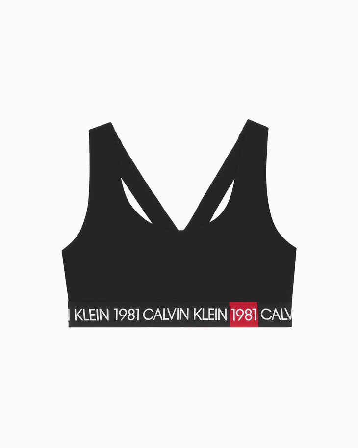 CALVIN KLEIN 1981 BOLD LIGHTLY LINED BRALETTE