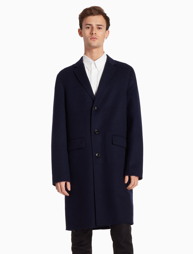 CALVIN KLEIN DENSE FELT LONG COAT