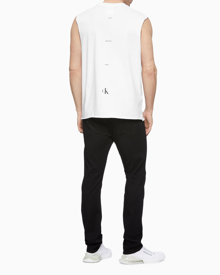 CALVIN KLEIN CK ONE LOGO SLEEVELESS TEE