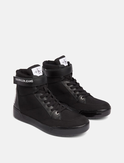 CALVIN KLEIN NIGEL HIGH TOP LACE UP SNEAKERS