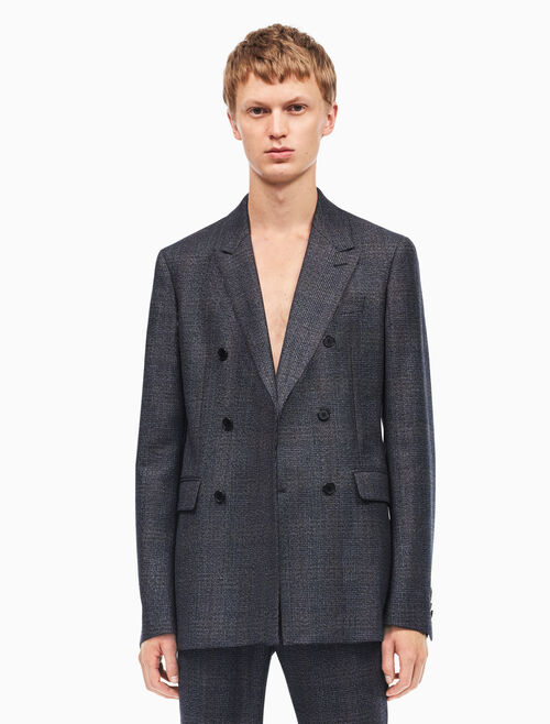 CALVIN KLEIN tailored fit double breasted sport coat