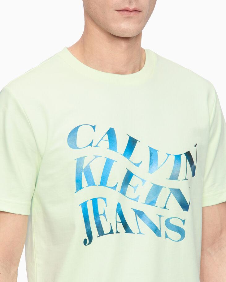 CALVIN KLEIN RAINBOW LOGO TEE