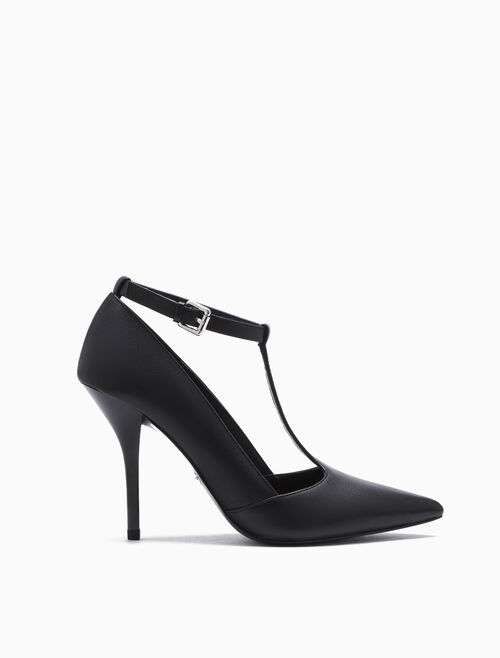 CALVIN KLEIN MELINE POINTED T BAR PUMPS