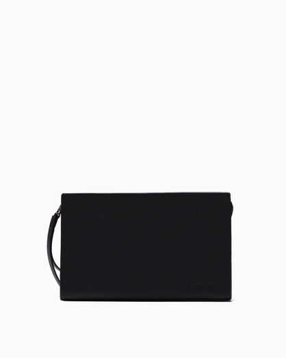 CALVIN KLEIN AIDEN TEXTURE LEATHER POUCH