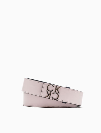 CALVIN KLEIN DOUBLE FACE LOGO BELT