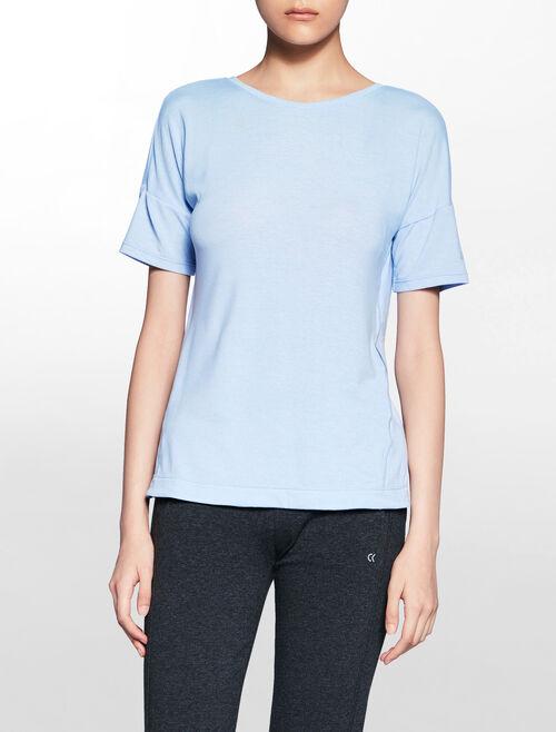 CALVIN KLEIN アシンメトリックなバックオープンのファッション T シャツ