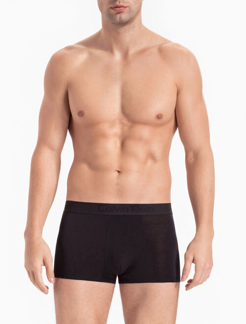 CALVIN KLEIN CK BLACK SILK KNIT LOW RISE TRUNK