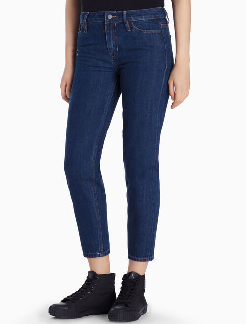 CALVIN KLEIN BANHOF BLUE HIGH STRAIGHT JEANS