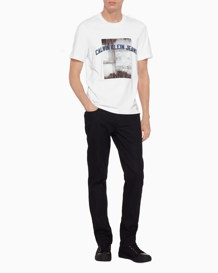 CALVIN KLEIN SATIN BASKETBALL PHOTO PRINT TEE